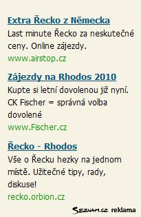 Řekyně / Rhodos - inzeráty Skliku