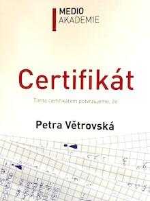 Certifikát ke školení Google Analytics (Medio Akademie)