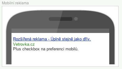 Náhled mobilní reklamy