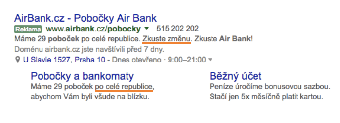 Personalizace reklamy - Air Bank